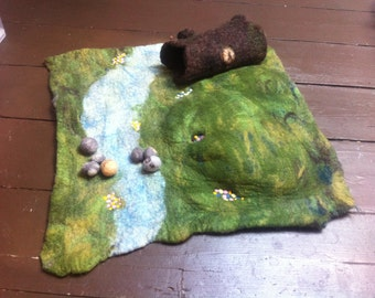 Hand felted merino Playscapes