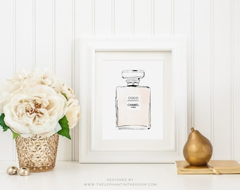 Coco Chanel Bottle print - wall art