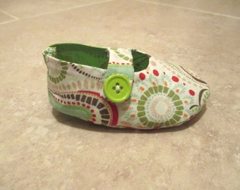 Paisley Mary Jane Booties for Baby Girl