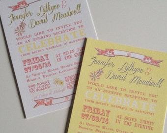 10 | Flat | Vintage | Shabby Chic | Summer | Wedding Invitations