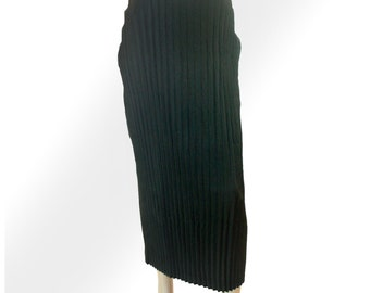 Issey Miyake Vintage Black Pleated Long Skirt