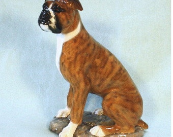 Boxer Dog Figurine