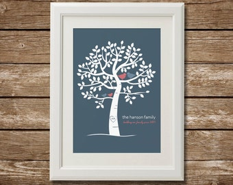 Personalized Family Tree, Digital Download, Printable Family Tree, Custom Family Tree, Christmas Gift, Anniversary Gift, Last Minute Gift