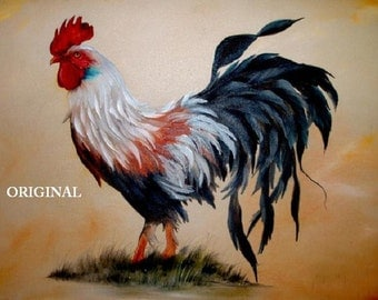 Regal Rooster... ~Counted~ Cross Stitch Pattern ~Computer Generated~ Birds BBXS