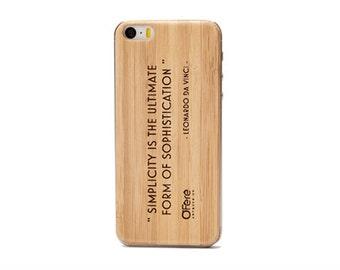 SOPHISTICATION - Back iPhone case wood engraved