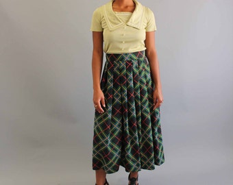 Plaid Long Skirt