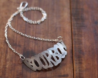 Bourbon Liquor Tag Necklace
