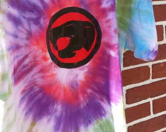 THUNDERCATS Hand Tie Dyed Tshirt Hanes Brand Upcycled Size Large