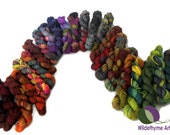 mini skeins lot, sock fingering weight yarn, hand painted, One quarter to whole Pound, Beekeeper, hexipuff, scrap quilt, mini skein grab bag