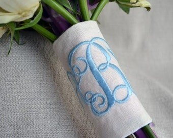 Monogram Bouquet Wrap