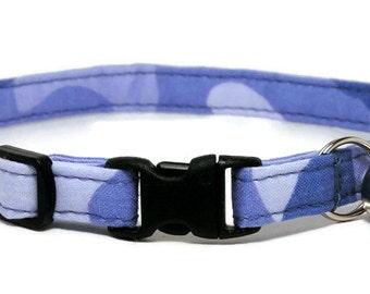 Cat Collar - Blue Camo - Breakaway Safety Cute Fancy Cat Kitten Collar