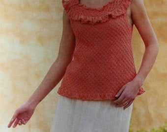 Knitting Patterns Knitter's Magazine Summer 2005 Sweater Cardigan Tank Top Poncho Vest Women Bolero Blanket Paper Original NOT a PDF
