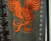 Corset Panel Steampunk Victorian LARGE Ravenna embroidered