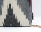 "Laptop Case - 13"" MacBook Pro or Air - Black Ikat"