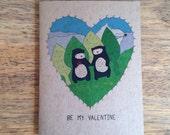 Cute bear Valentine I love you beary much Greeting Card