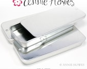 Slide Top Rectangle Blank Tins for Moo Cards and More. 5 Pack Great for Pendants and Magnets and Moo Cards.