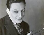 vintage photo gay interest 1918 French Actor Cross Dresser Nino Constantini Autograph Mauprat George Sand Luis Bunuel