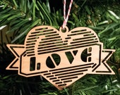 Ornament -- Love Heart Lasercut