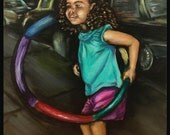 """Hula Hoopin' - an 8""""x10"""" print on beautiful gloss photo paper, with a high quality finish and UV coating."""