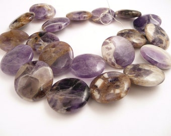 Cape Amethyst Disc Beads // Jewelry Supply // Smooth Purple Stone Beads // Round Disc Stone Beads // FULL STRAND // BEADSCAPEAMETH2