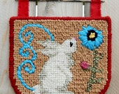 Locker Hooking Springtime Bunny Wall Hanging