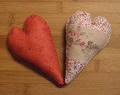 Primitive Chic Gather Roses Heart Bowl Filler Pillow Tuck Decoration