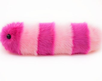 Stuffed Animal Cute Plush Toy Caterpillar Kawaii Plushie Suzie the Pink Striped Snuggle Worm Faux Fur Toy Large 8x24 Inches