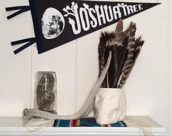 Pennant Joshua Tree Silkscreen Charcoal Wool Felt