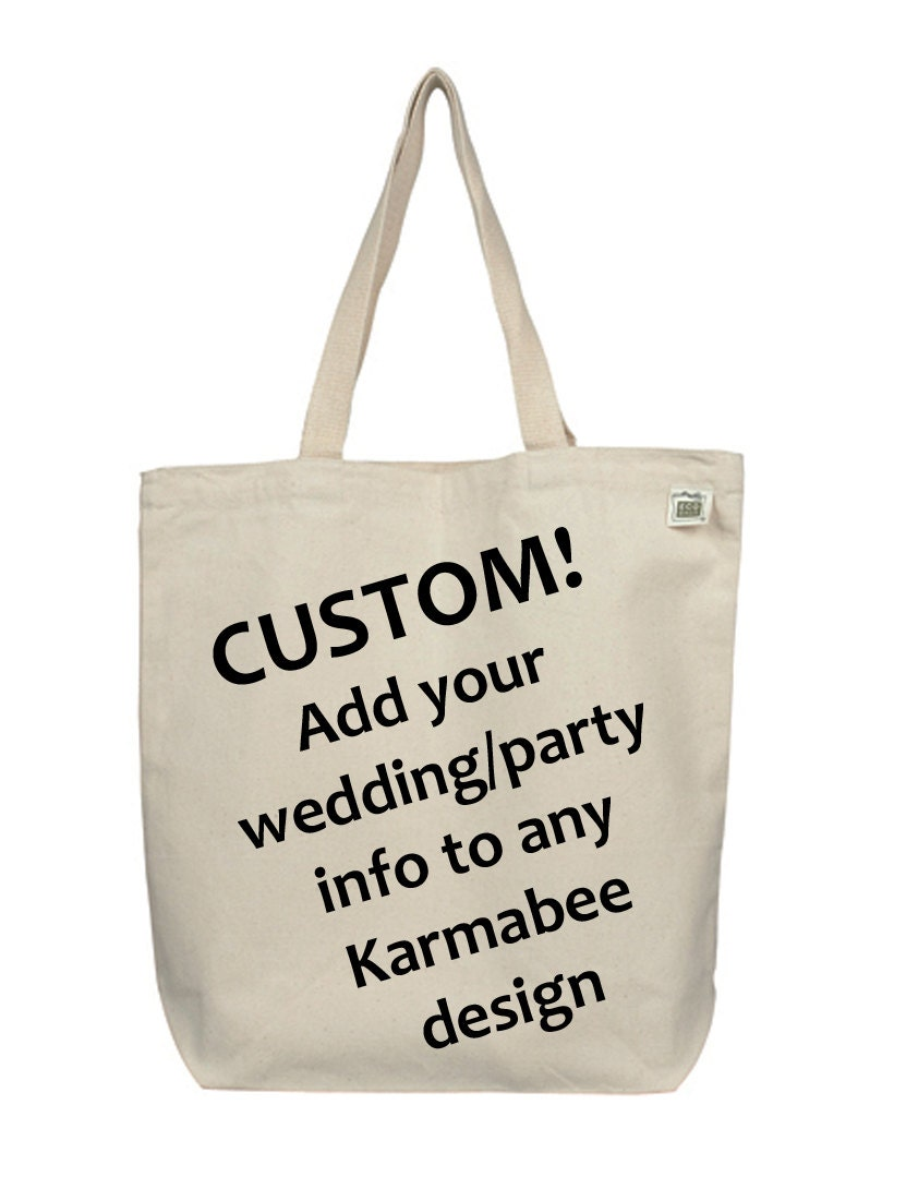 Custom Wedding Canvas Tote Bags Personalized Gift Bags