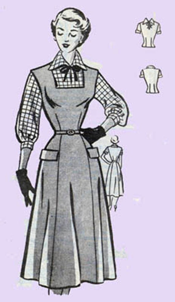 1950s rockabilly jumper dress and blouse mail order pattern