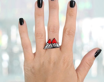 Twin Peaks Black Lodge Adjustable Ring