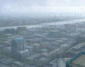 London Cityscape Triptych, Original Painting