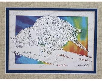 Rainbow Lorikeet, Parrot Papercutting- Handcut Original