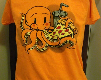 Pizza-Puss T-shirt for Kids and Adults