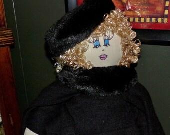 SALE-SALE Original Sha Bebe Cloth Doll Made by Cajun Doll Artist, Mary Lynn Plaisance in  Louisiana. Art doll collectibles .