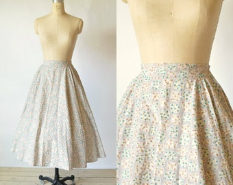 1950s Mexican Style Skirt --- Vintage Circle Skirt