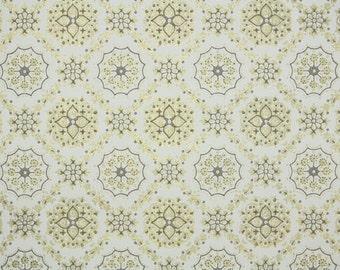 1950's Vintage Wallpaper -Metallic Gold Geometric