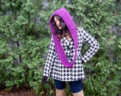 DIGITAL DOWNLOAD for Scarf/Hoodie Crochet Pattern - Easy