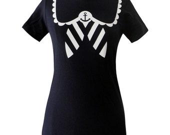 Sailor Shirt - Nautical Anchor NAVY T-Shirt - Choose Your Size