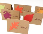 Thanksgiving Place Cards - Personalized Place Cards - Table Name Cards - Autumn Fall Leaf Place Cards - Fall Wedding Escort Cards
