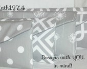 Grey Clutches - Bridesmaid Clutches - SALE - Set of 4 - Envelope Clutches - Premier Prints in Storm Grey - Bridesmaid Gift - Birthday