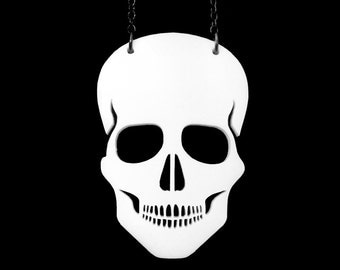 Skull Necklace - Laser Cut Necklace (C.A.B. Fayre Original Design)