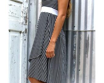 Nora ~ Stripe Racer Back Dress  ~ Bamboo & Organic Cotton ~ Made to Order