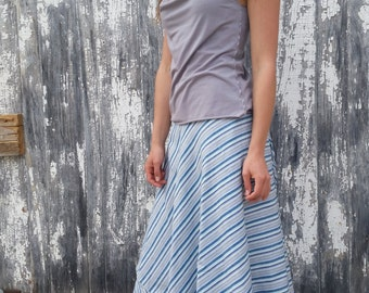 Sasparilla~ Long Wrap Skirt  ~ 100% Organic Linen ~ Made to Order