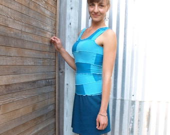 Willow ~ Color Block Tank Top  ~ Bamboo & Organic Cotton ~ Made to Order