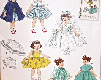 """8"""".  Simplicity Reissue Pattern 2775 for Ginny, Muffie, and Other 8"""" Dolls, New Uncut"""