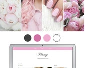 Mobile Responsive Blogger Template | Premade Blogger Template | Blog Design Peony