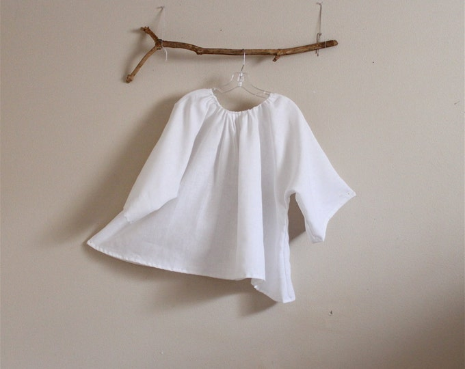 made to order comfy pleated linen top