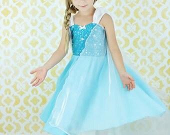 Elsa dress  princess  dress Frozen birthday party dress  or portrait