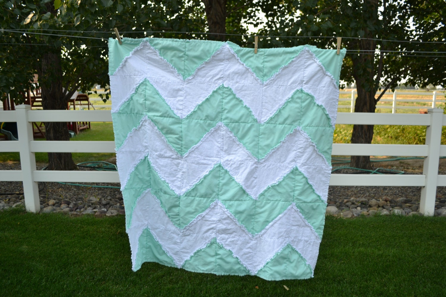 Rag Quilt Pattern For Beginners : Chevron Rag Quilt Pattern Baby Blanket Sewing by avisiontoremember